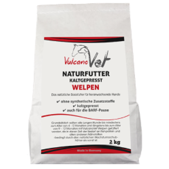 VulcanoVet Naturfutter Welpen kaltgepresst